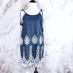 Girl's Lace Embroidered Spaghetti Strap Dress